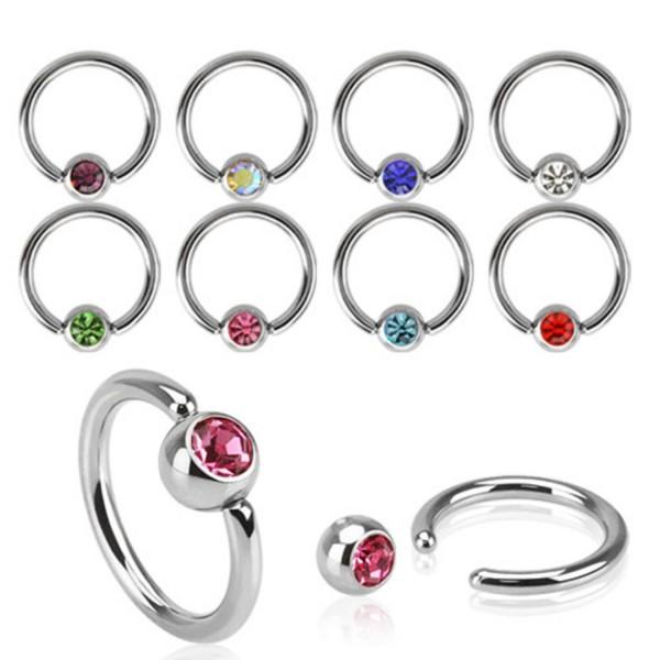 Gem Ball Captive Bead Ring
