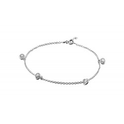 Anklet with 4 Clear Round Crystals