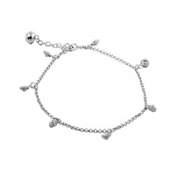 Shell Charms  Anklet With a Bell