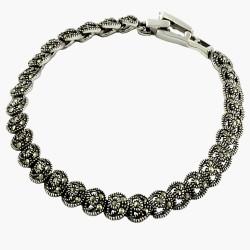 Marcasite Moon Star Bracelet