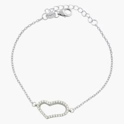 One Heart Crystal Adjustable Bracelet