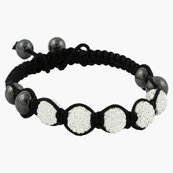 5 x 10mm Silver Beads with Czech Crystal Bracelet