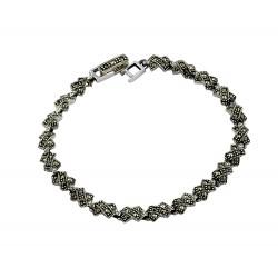 Marcasite  'X' design Bracelet