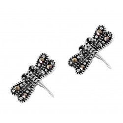 Marcasite Dragonfly Stud Earring