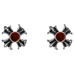 Iron Cross With Red Gem