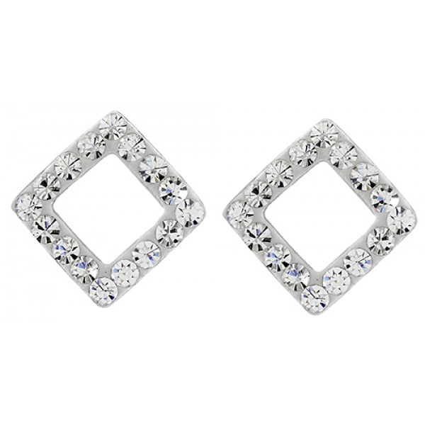 Cut Out Square Stud Earring