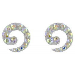 Spiral Earring With Crystal