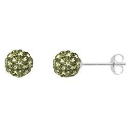 Jonquil  6 mm Crystal  Shamballa Stud Earrings