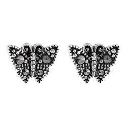 Marcasite  Butterfly Stud Earring