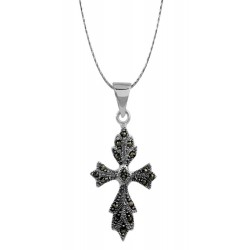 Marcasite Gothic Cross Pendant