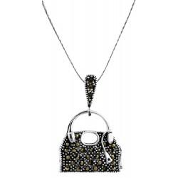Marcasite Hand Bag Pendant