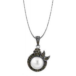 Marcasite Large Pearl Pendant