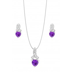 TWISTED TOP TRIANGLE CRYSTAL SET