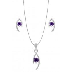 Eye With Dark Purple Crystal