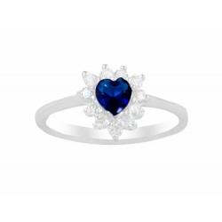 Dark Blue Heart Ring