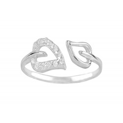 Double Hearts Adjustable Ring