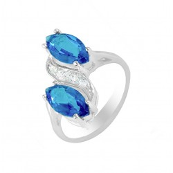 Double Oval Stone Ring