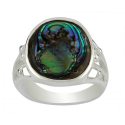 Oval  Dichroic Filigree Ring