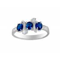 Red Crystal With Multi Cubic Zirconia Swirl Ring