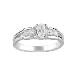 Oval Engagement Wedding Ring