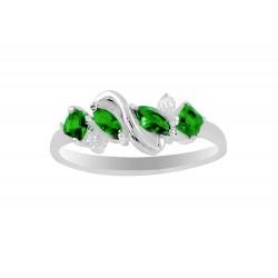 Cubic Zirconia Twist Ring