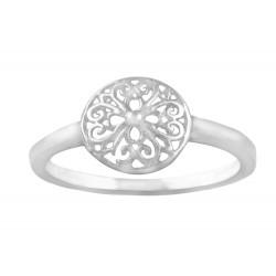 10 mm Round  Floral Filigree Ring