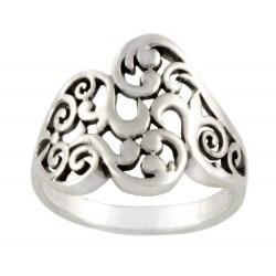 Sterling Silver 15 mm Filigree Ring