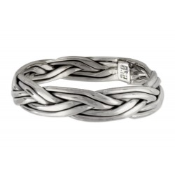 Sterling Silver 5 mm Braided Celtic Knot Ring