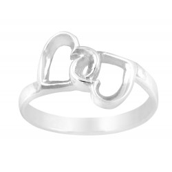 Cut Out Double Hearts Ring