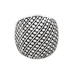 Diagonal Stripe Dome Beaded  Ring