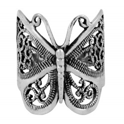 Rolling Large Filigree Butterfly Ring