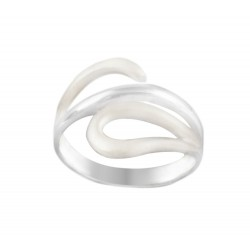 Satin And Silver Cut Out Spoon Ring