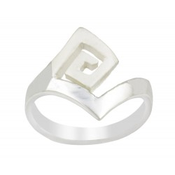 Satin And Silver Maze Ring