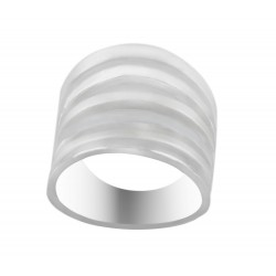 Sterling Silver Satin And Silver Six Band Design Ring