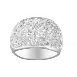 White Glitter Sterling Silver Ring