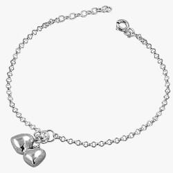 Double Hearts Puff Bracelet