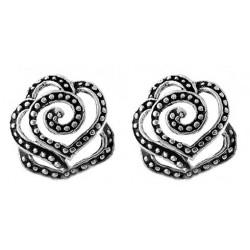 Swirl Rose Stud Earrings