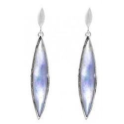 Pointed Oval  Dangle Stud Earrings