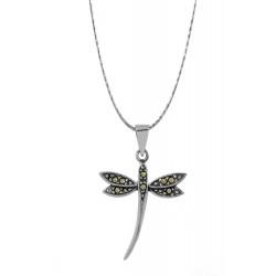 Marcasite Dragonfly Pendant