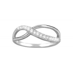 Half Pave Infinity  Ring