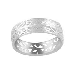 Sterling Silver 7 mm Victorian Filigree Ring