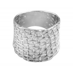 Weave Net Design Ring
