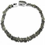 Marcasite Moon Flower Bracelet